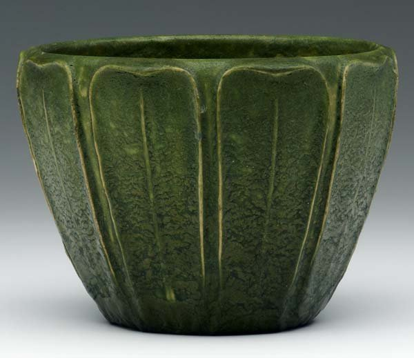 13: GRUEBY Flaring jardiniere with rounded leaves