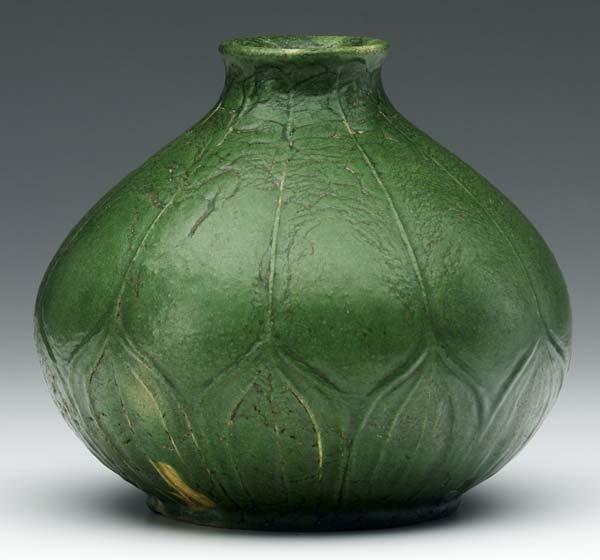 16: GRUEBY Rare tear-shaped vase