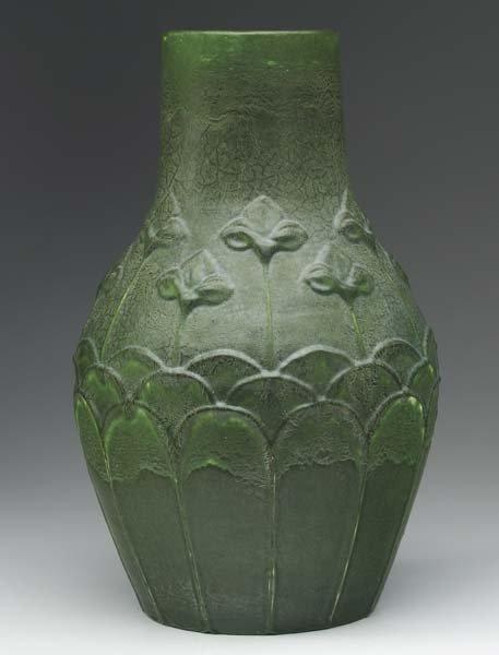 17: GRUEBY Large bottle-shaped vase