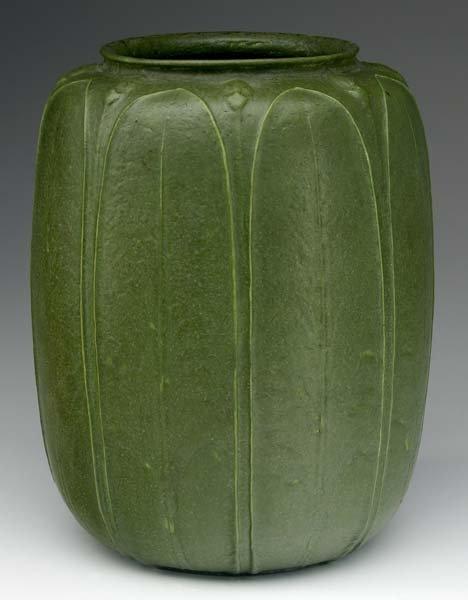 18: GRUEBY Large melon-shaped vase