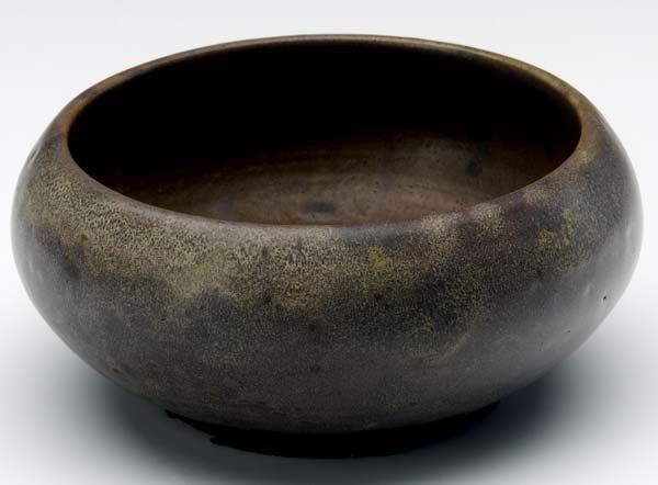 338: CHARLES FERGUS BINNS Squat bowl covered in frothy