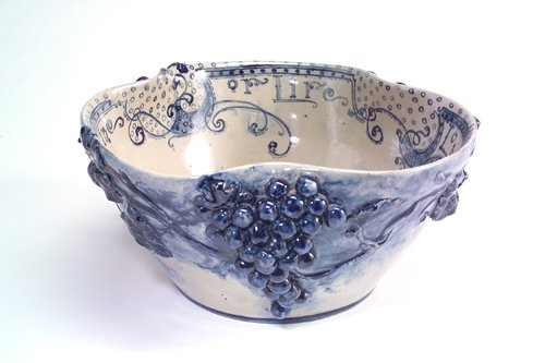 1: SUSAN FRACKELTON Exceptional and large salt-glaze st