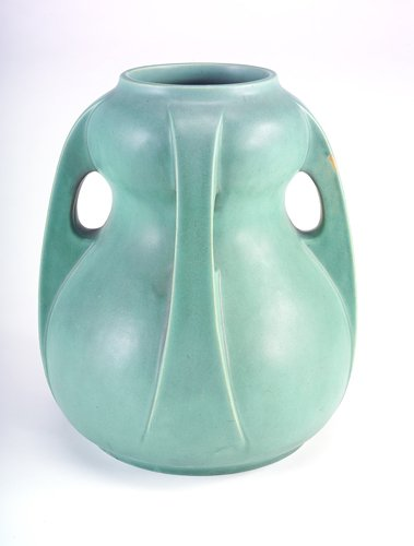 13: TECO Exceptional double-gourd vase with four buttre