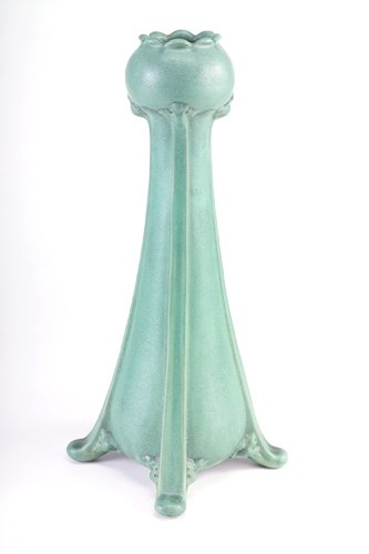 18: TECO Fine and tall Art Nouveau vase with four buttr