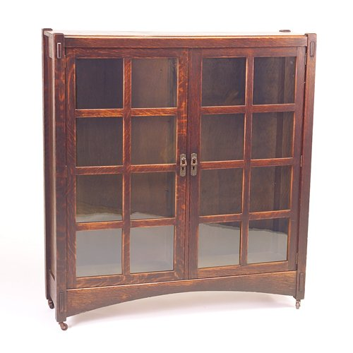 506: LIFETIME Double-door bookcase with flush top, six