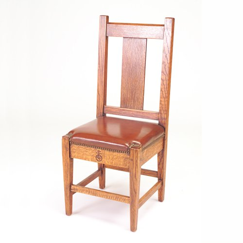 510: ROYCROFT Dining chair with single broad vertical s