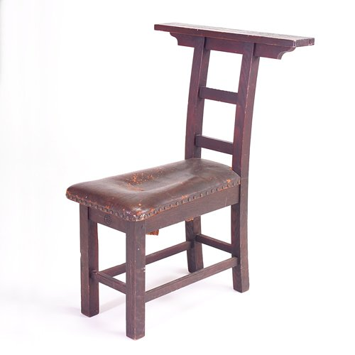 512: ROYCROFT Meditation chair with long narrow bench c