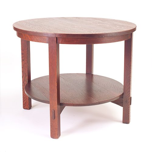 522: GUSTAV STICKLEY Early occasional table with circul