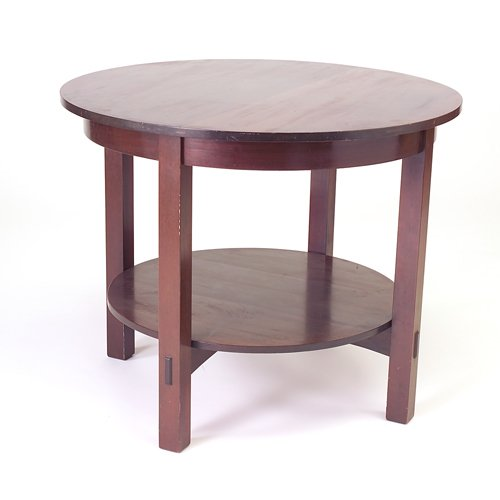 523: L. AND J.G. STICKLEY Large mahogany stand (no. 542