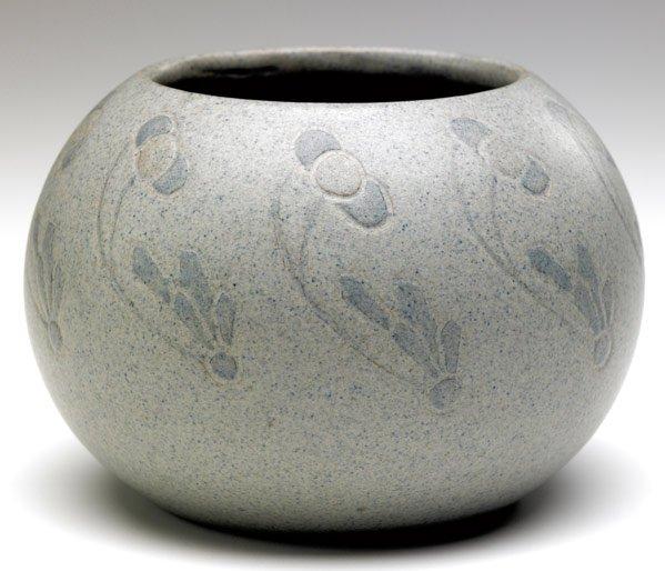 3: MARBLEHEAD Spherical vase by Arthur Baggs