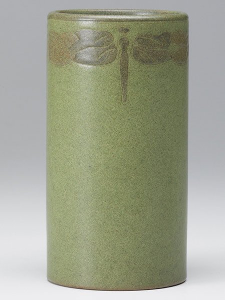 6: MARBLEHEAD Early cylindrical vase