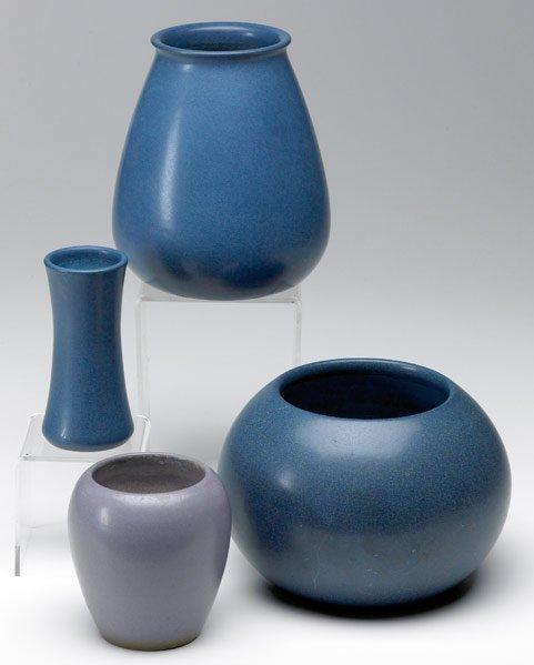 10: MARBLEHEAD Four vases