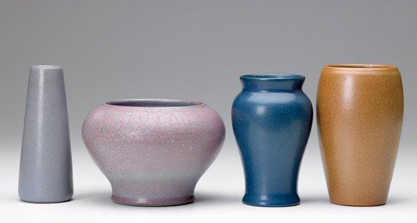 11: MARBLEHEAD Four vases