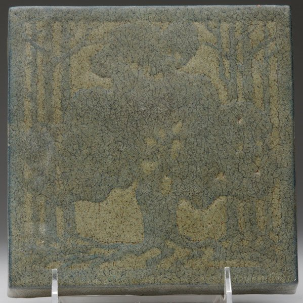 18: MARBLEHEAD Tile with a stylized oak tree