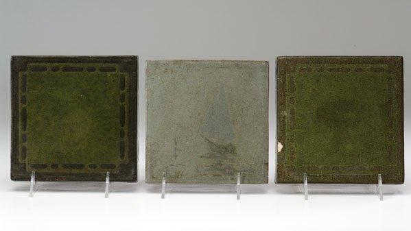 19: MARBLEHEAD Three trivet tiles