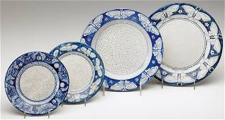 436: DEDHAM Crackleware Moth and Owl plates