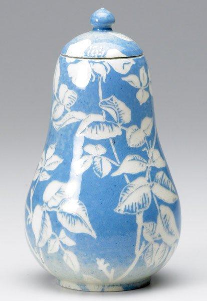 501: NEWCOMB COLLEGE Covered jar by Harriet Joor