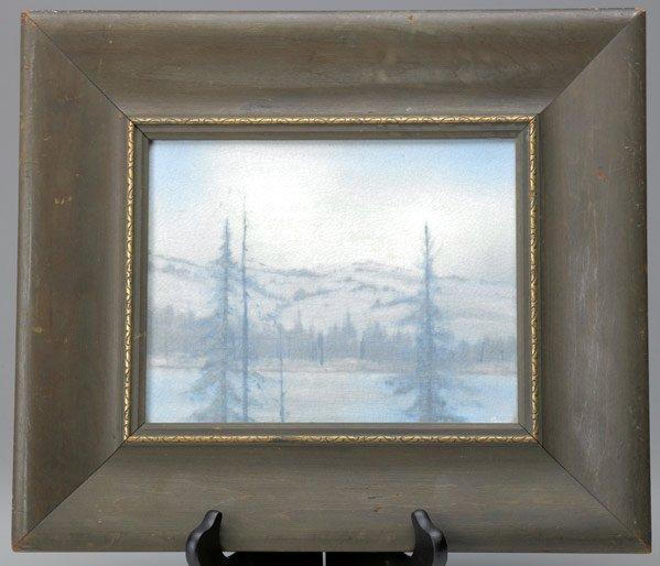 520: ROOKWOOD Scenic Vellum plaque by Kate Van Horne