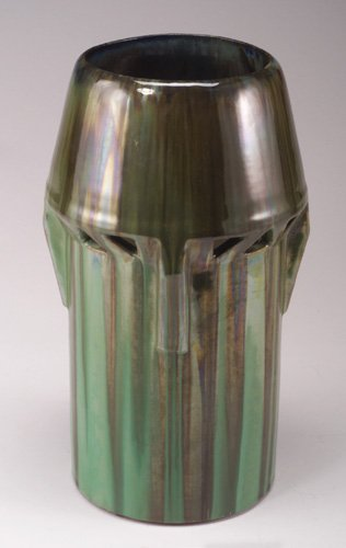8: Large and rare FULPER buttressed vase pier