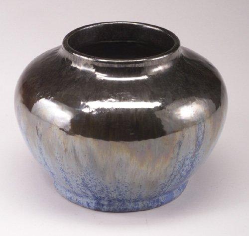 11: Fine and large FULPER squat vase covered