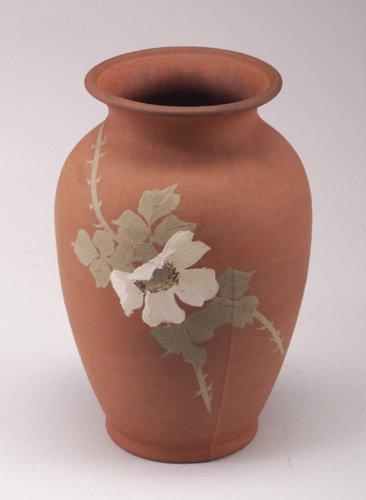 23: CLIFTON Tirrube baluster vase painted wit