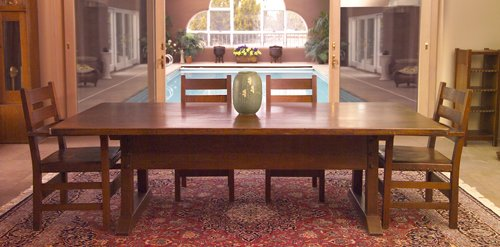 5: GUSTAV STICKLEY Early Director's table, 1902-03, wit