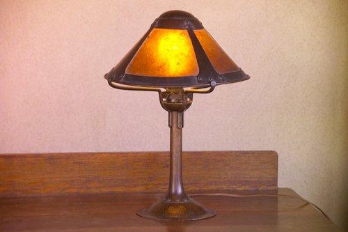 17: DIRK VAN ERP (Attr.) Rare hammered copper candlesti