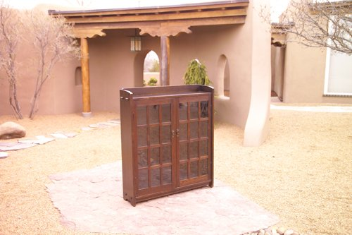20: GUSTAV STICKLEY Early two-door bookcase with mitere