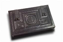 246: CHARLES ROHLFS Fine and rare hinged desktop box, 1