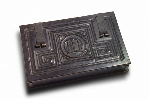 246: CHARLES ROHLFS Fine and rare hinged desktop box, 1