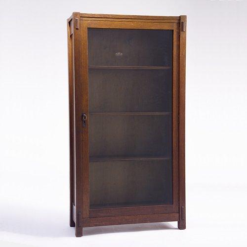 503: LIFETIME Single-door bookcase with copper hardware