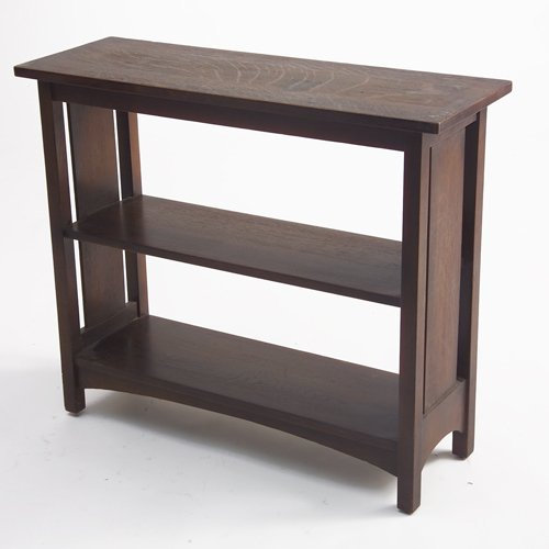 506: L. & J.G. STICKLEY Magazine stand with two shelves