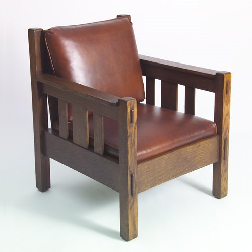 514: STICKLEY BROTHERS Armchair with three under-arm sl