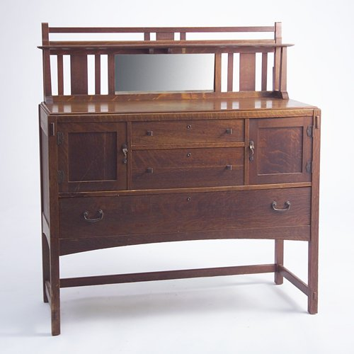 519: LIMBERT Sideboard with mirrored and slatted backsp