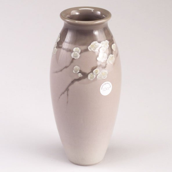 1000: ROOKWOOD Iris glaze ovoid vase painted