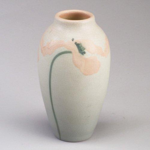 1004: ROOKWOOD Vellum vase beautifully painte