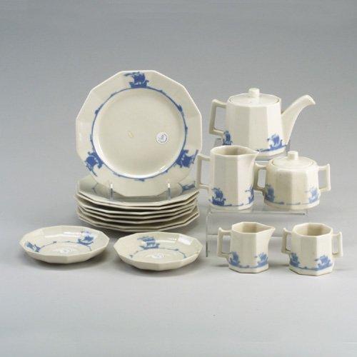 1009: ROOKWOOD Shipware 17-piece tea set: a l