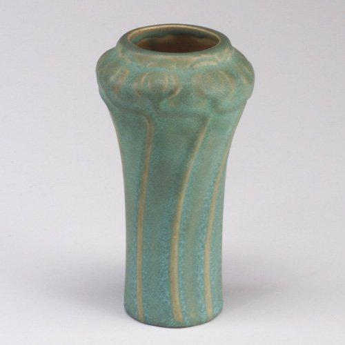 1014: VAN BRIGGLE corseted vase, 1908-1911, e