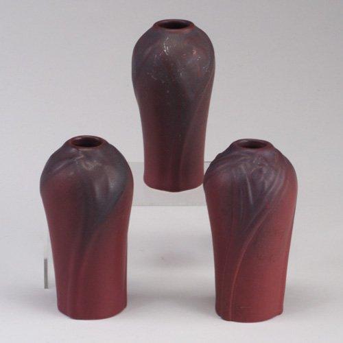 1016: Three VAN BRIGGLE bud vases, 1926-1932,