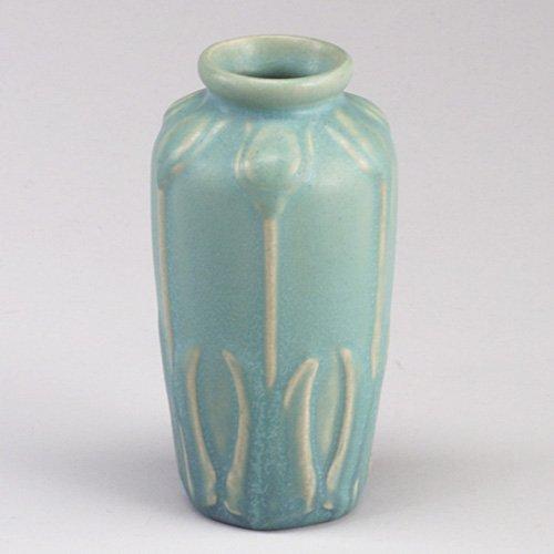 1017: VAN BRIGGLE vase, 1915, embossed with t