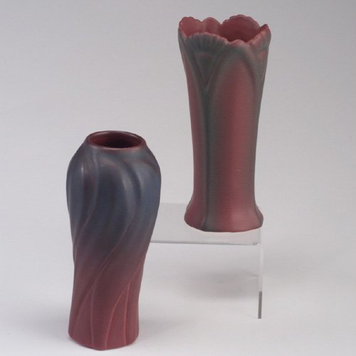 1020: Two VAN BRIGGLE vases, 1920¹s-1930¹s, o