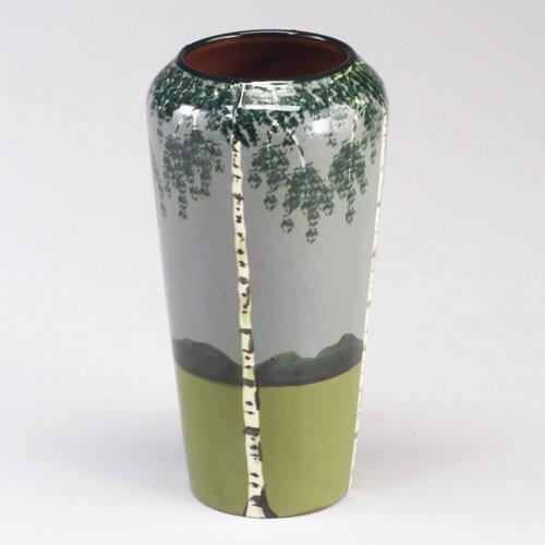 1022: Fine German Arts & Crafts vase handpain