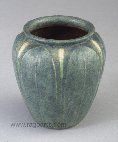 2: Fine and rare GRUEBY tri-color bulbous vas