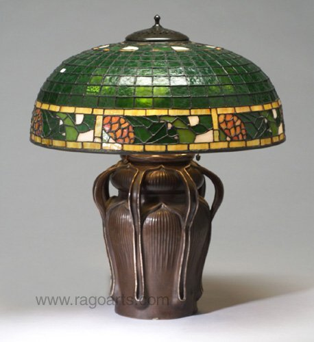 6: BIGELOW AND KENNARD table lamp, the three-