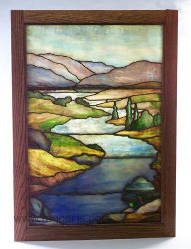 9: Fine and rare TIFFANY leaded glass window