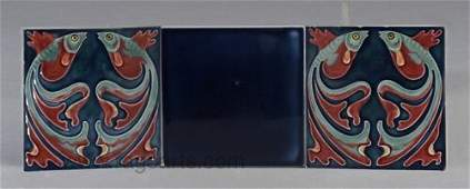 328 Three VILLEROY  BOCH tiles a pair embo