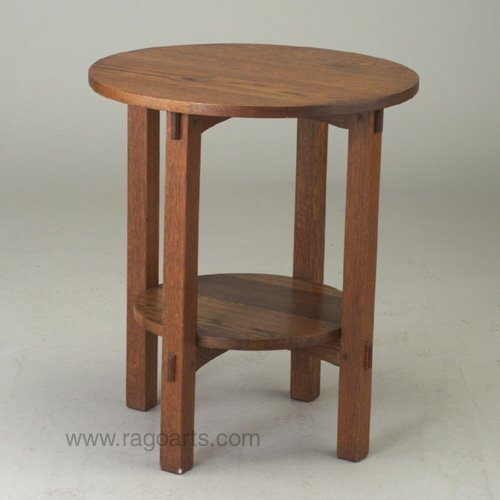 476: ONONDAGA SHOPS lamp table with circular