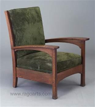 477: L. & J.G. STICKLEY bow-arm chair (no. 48
