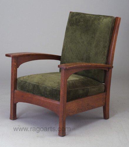 478: L. & J.G. STICKLEY bow-arm chair (no. 48