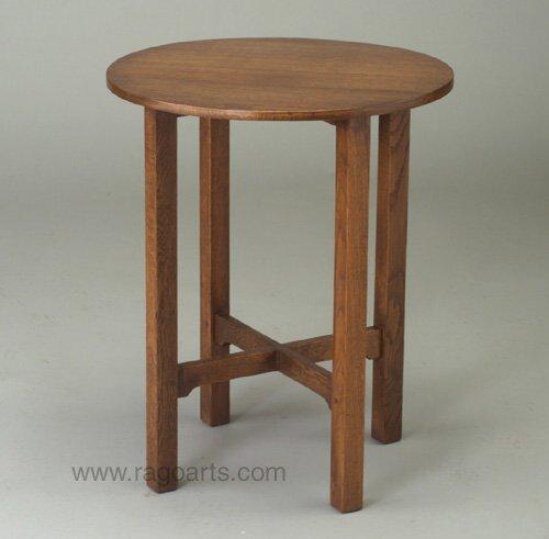 484: GUSTAV STICKLEY tea table with circular